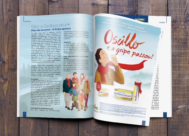 Editorial Design, Print, Boiron - Portugal